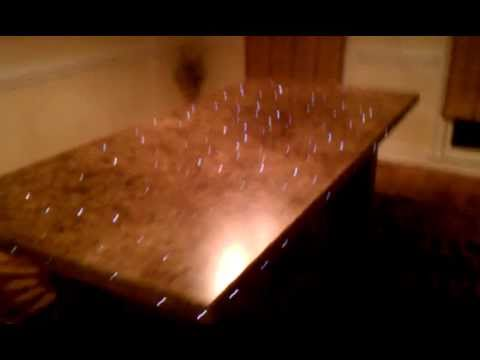 Fiber optic dining table youtube fiber optic dining table mozeypictures