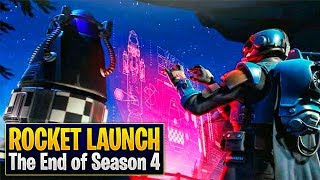 ROCKET LAUNCH - The End of Season 4! 🚀 (Fortnite Cinematic)