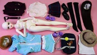★구체관절인형 사돌 해랑 개봉기/큐티40 베이직/옷입히기★Ball Jointed Doll SADOL Cutie40 Basic haelang Unboxing/Doll Dress Up thumbnail