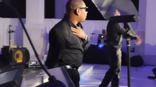 Nelly and Shantel Jackson performing for Face Forward