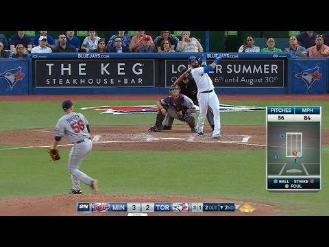 Bautista hits grand slam to center field