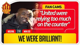 ROBBIE! UNITED WERE DISAPPOINTING! Arsenal 2-0 Manchester United FanCam