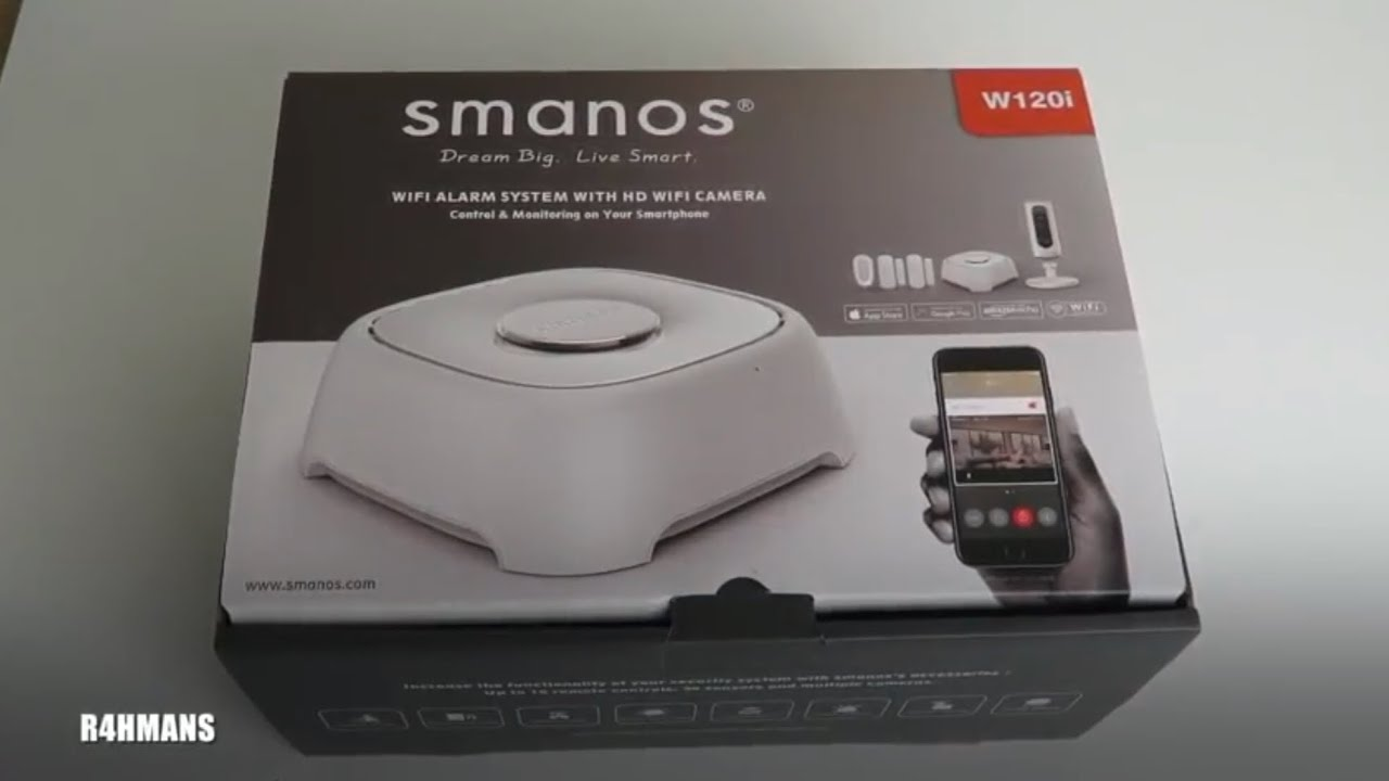smanos w120i  Smanos W120i Security System Unboxing - YouTube