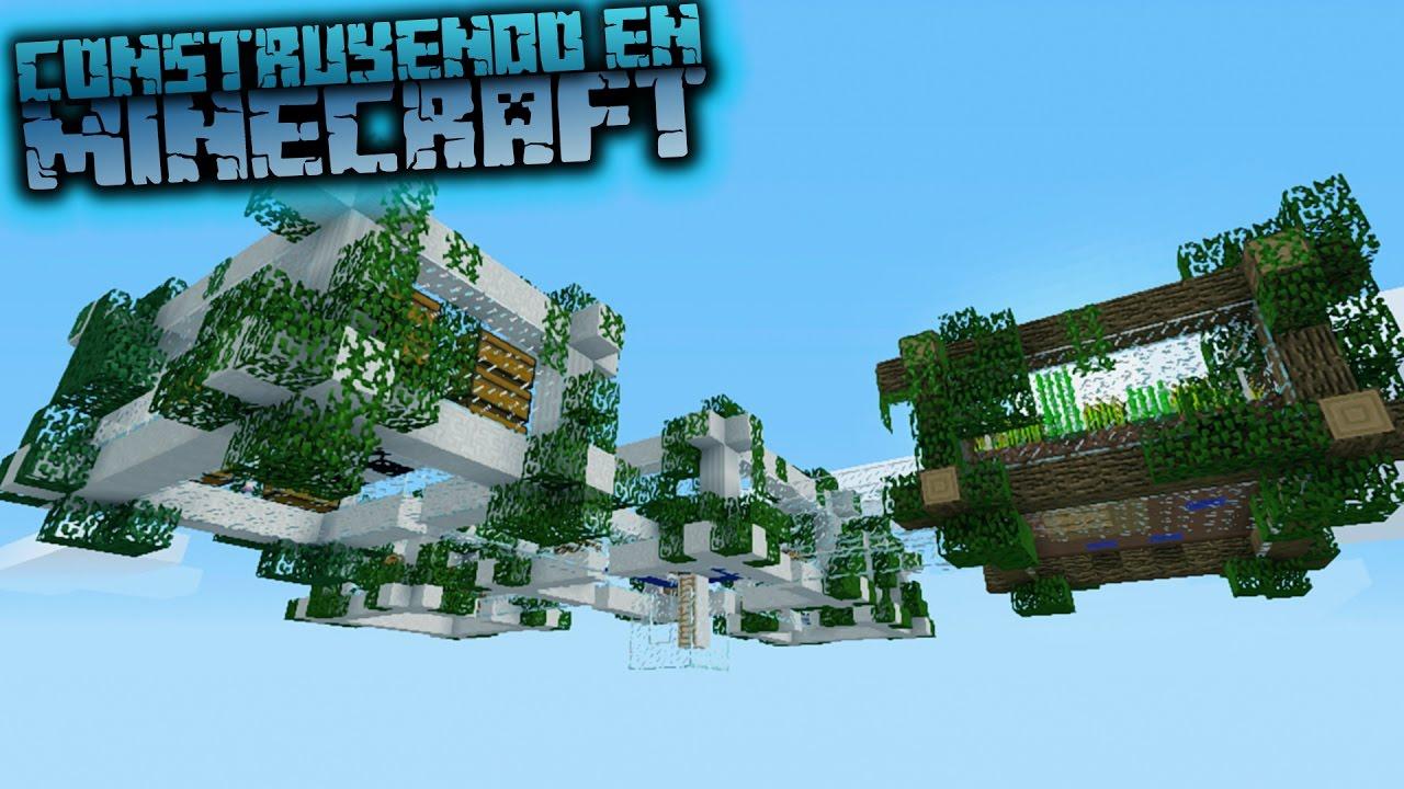 Como hacer una casa flotante moderna en minecraft para for Casa moderna 64