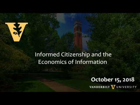 The Open Mind Series: Informed Citizenship and the Economics of Information