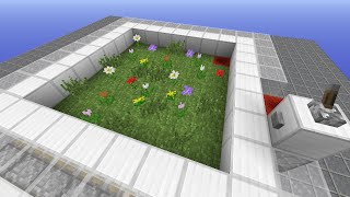 【ver1.9】 かなり簡単な機構の、種&花製造機です。 骨粉で生えた花と...