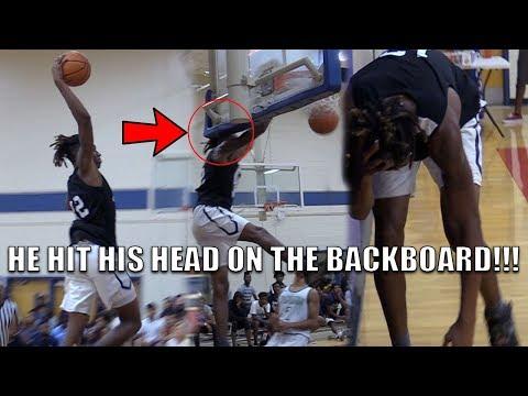 CJ Walker HITS HIS HEAD on the BACKBOARD!!! Oak Ridge vs Windermere HS Fall League Highlights