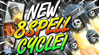 INSANE 8 SPELL CYCLE!! WINNING WITH SPELLS ONLY IN CLASH ROYALE!!