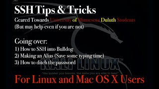 SSH Tips & Tricks to login into Bulldog server - UMD