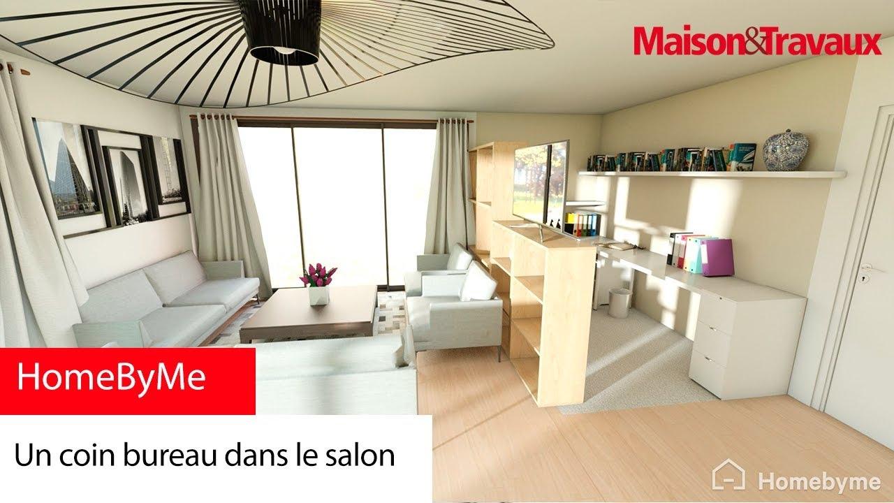 un coin bureau dans le salon youtube. Black Bedroom Furniture Sets. Home Design Ideas