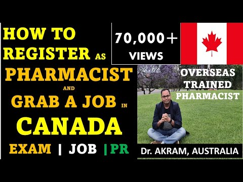 HOW TO GET PHARMACIST JOB IN CANADA | BECOME PHARMACIST IN CANADA