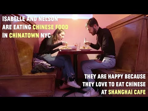 WE ARE EATING CHINESE FOOD AT CAFE SHANGHAI IN CHINATOWN NYC