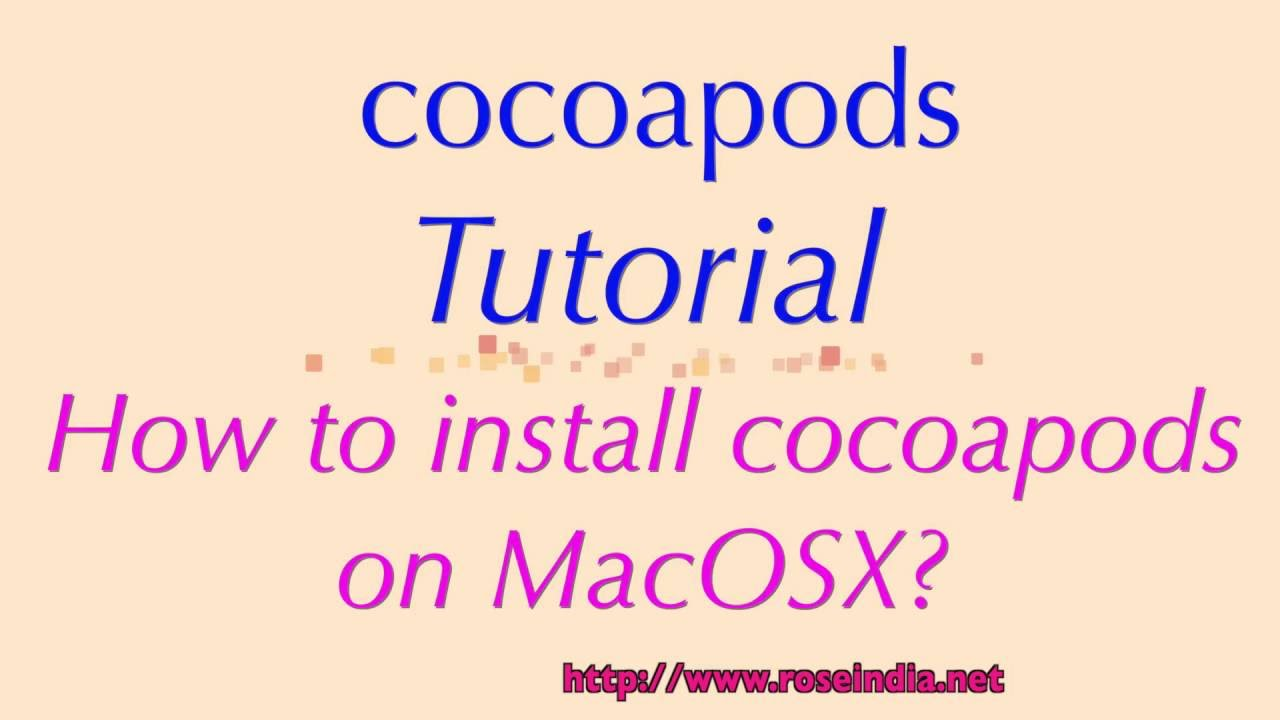 How to install cocoapods on Mac?