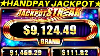 Unbelievable !! Rare HANDPAY JACKPOT On Jackpot Streak Sparkling Royal Slot Machine