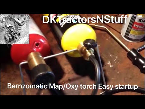 Bernzomatic Map/Oxy torch Easy startup