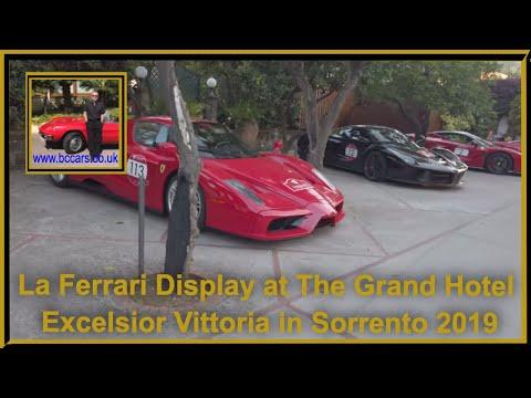 La Ferrari Display At The Grand Hotel Excelsior Vittoria In Sorrento 2019