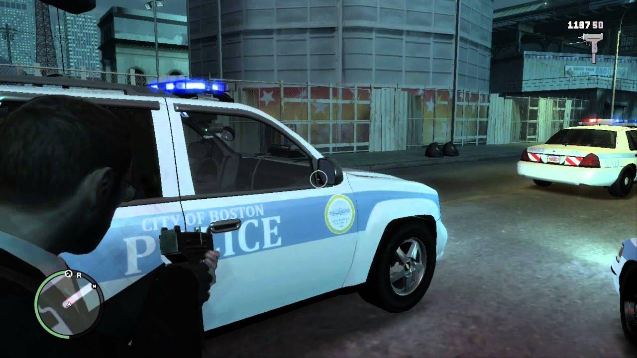 Boston police vehicle vintage photo