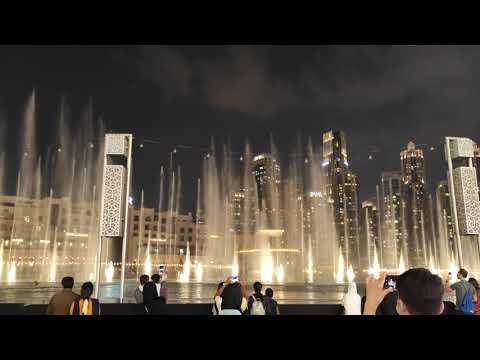 4K Dubai Downtown Burj Khalifa Fountain Show Diwali Celebration 2020