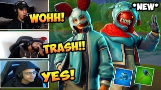 STREAMERS REACTS TO NEW FLAPJACKIE & GROWLER SKIN (FORTNITE BEST)
