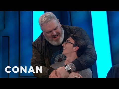Isaac Hempstead Wright & Kristian Nairn Reunite At ConanCon   CONAN on TBS