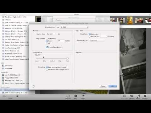 Exporting iPhoto '11 Slideshow to 1080p Video