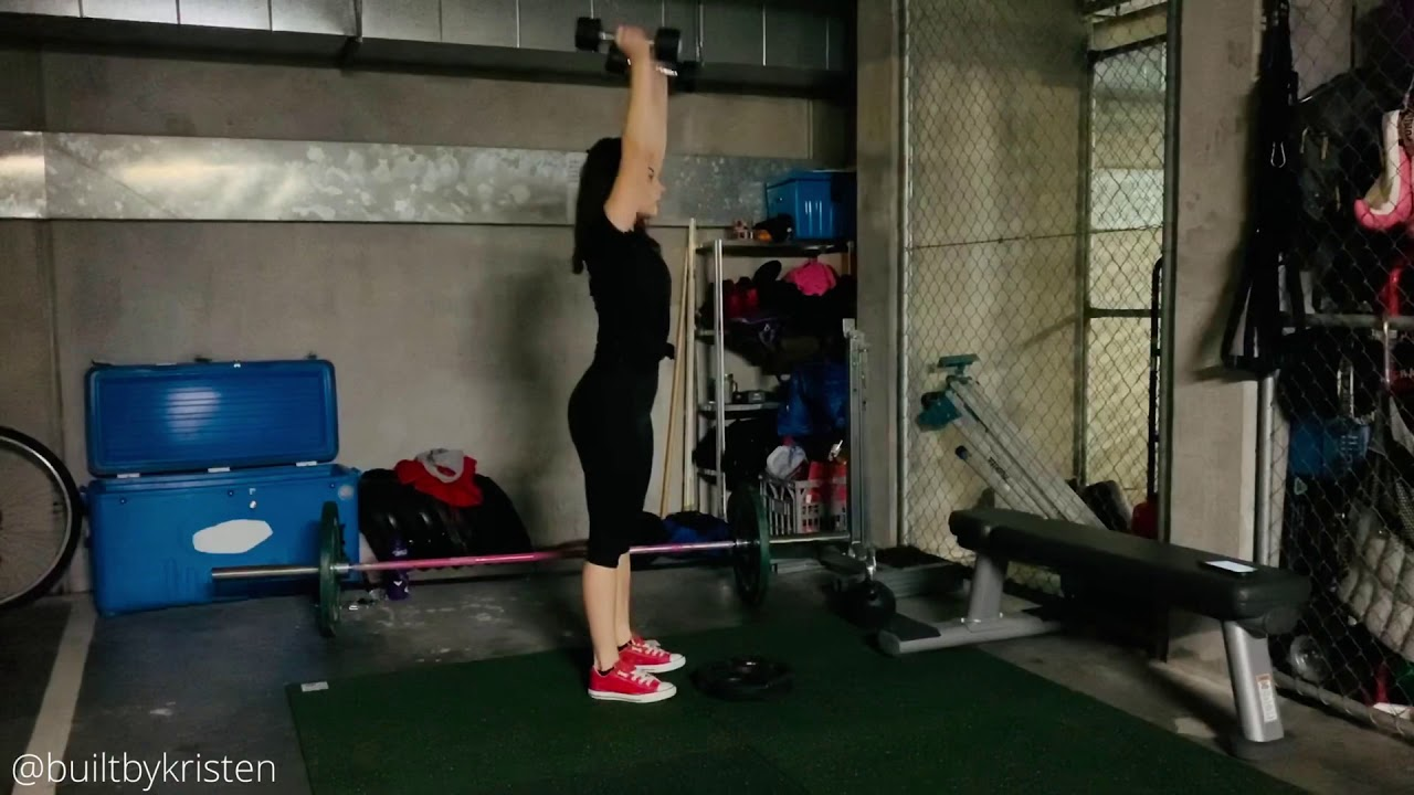 Dumbbell Hang Clean & Push Press - YouTube