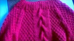 EINFACHE STRICKANLEITUNG - DIY - Stricken für Anfänger - Roter Pullover - Merinowolle
