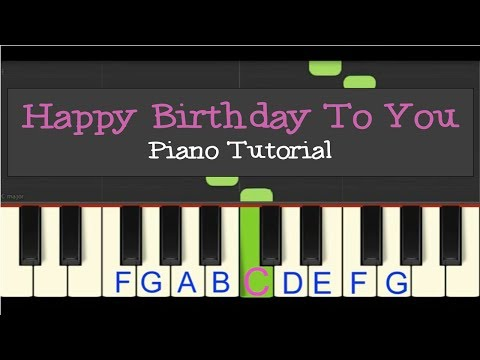 Easy Piano Tutorial: Happy Birthday to You! slow tempo