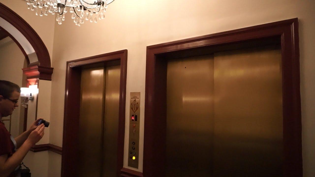 1926 OTIS manually controlled elevator  without inner doors  @ Lexington VA - YouTube & 1926 OTIS manually controlled elevator