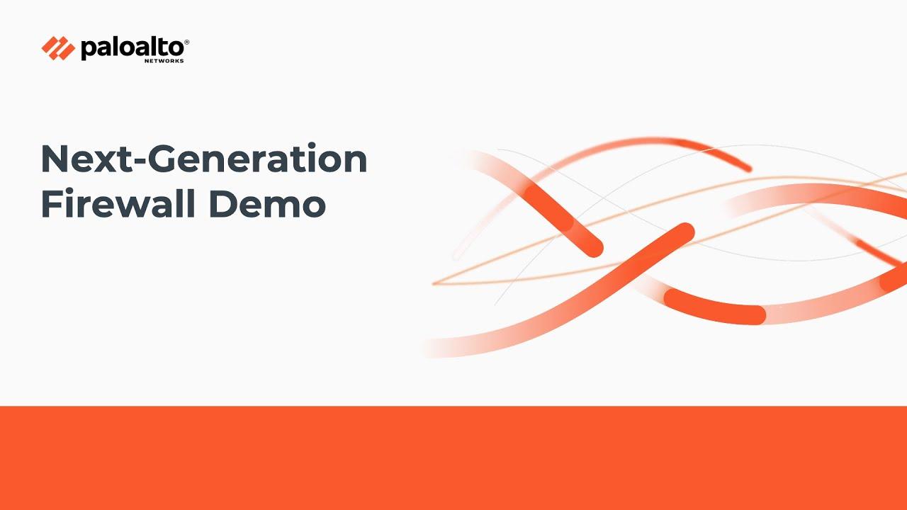 Download ML-Powered Next-Generation Firewall Demo