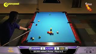 ***FINAL*** John SCHMIDT vs Amar KANG / 'POV6' One Pocket Tournament!