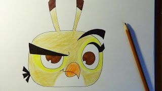 How to draw Angry birds Stella - Dahlia, Como dibujar Angry birds, Как нарисовать Angry birds