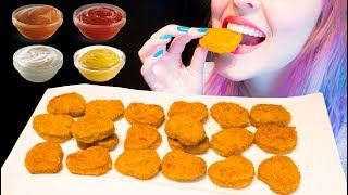 Asmr Super Crispy Chicken Nuggets Mcdonalds Style Challenge Relaxing Eating No Talking V