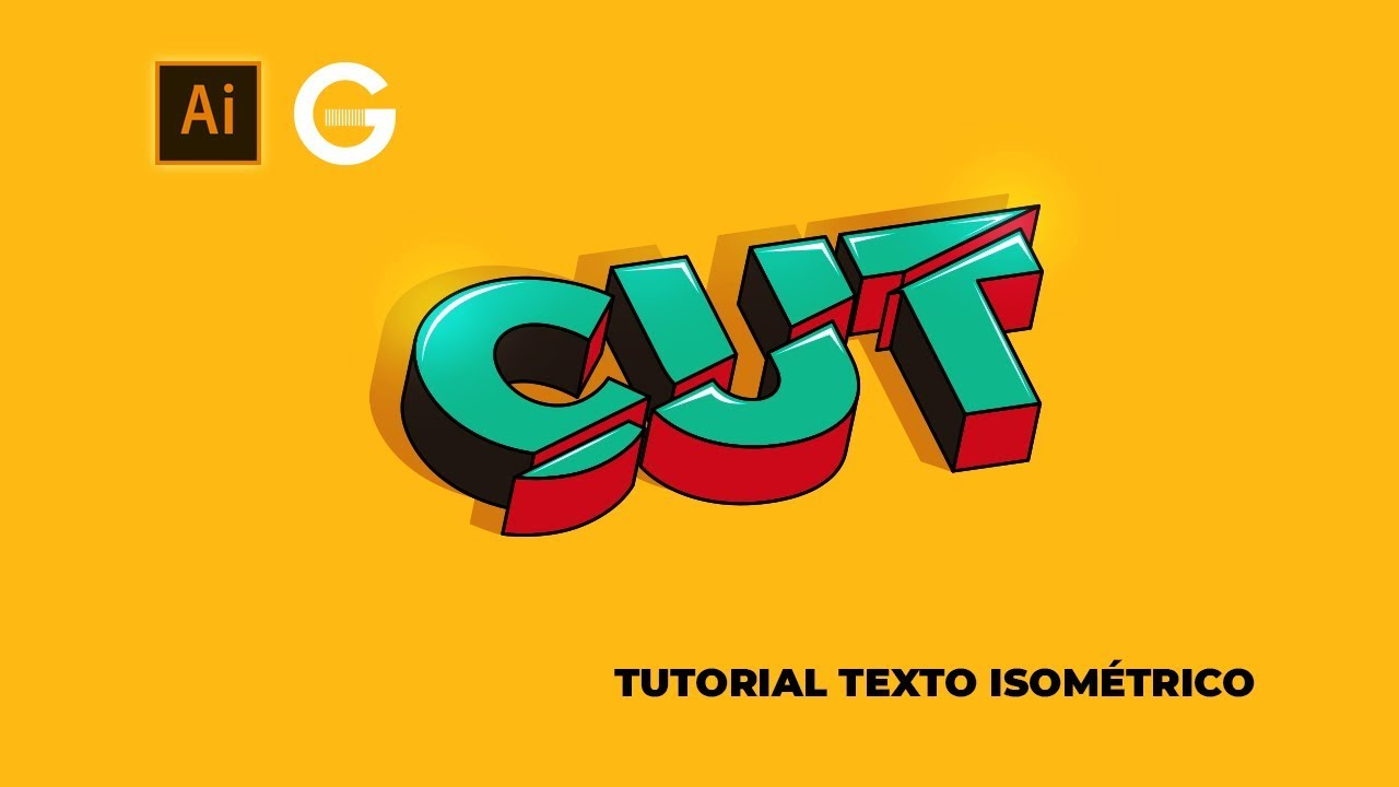 Illustrator Tutorial Texto 3d Isométrico 3d Isometric Text Youtube