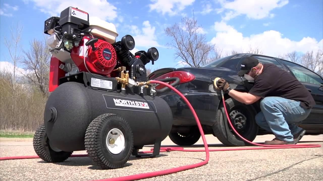 NorthStar Portable Gas-Powered Air Compressor - Honda ...