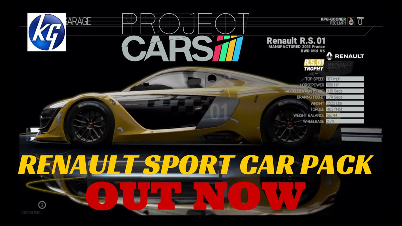 Project Cars Ps4 Gameplay RENAULT SPORT CAR PACK RENAULT SPORT R.S 01 Patch  7.0 T300rs