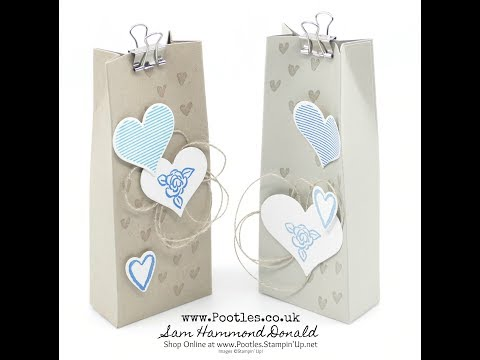 Stampin' Up! Heart Happiness Bag Tutorial – 2 From One Sheet of Cardstock - วันที่ 14 Mar 2018
