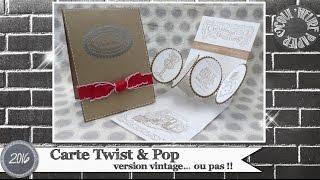 """Vidéo-Tuto """"Carte Twist & Pop"""" par Coul'Heure Papier"""