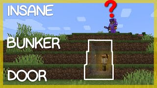 Fully Hidden Minecraft Bunker Door!!! *UNDETECTABLE* - Minecraft Redstone Doors