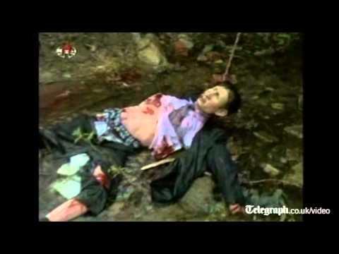 North Koreans destroy effigy of South Korean president Lee Myung-bak