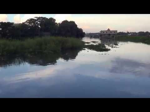 Natural Beauty of Bangladesh Reflection Of Cloud Into Water Panoramic View