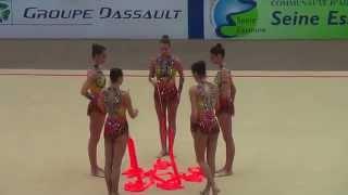 gymnastique rythmique Bulgarie championne du Monde 2015 Ruban