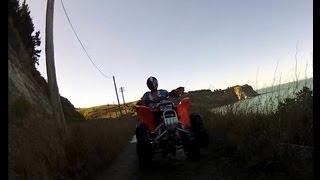 Quad biking drifting