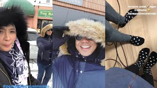 Alif Satar & Siti Nordiana berada di Jepun shooting drama Pengantin Musim Salju