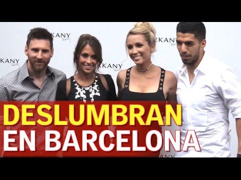 Las mujeres de Messi y Suarez deslumbran en Barcelona | Diario AS