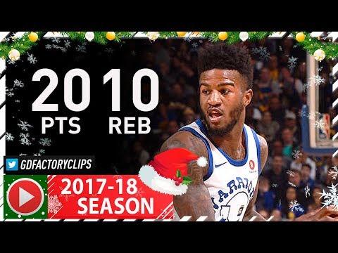 Jordan Bell Full Highlights vs Lakers (2017.12.22) - 20 Pts, 10 Reb