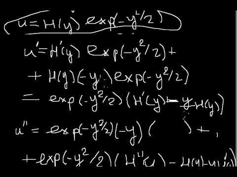 The harmonic oscillator.Quantum physics