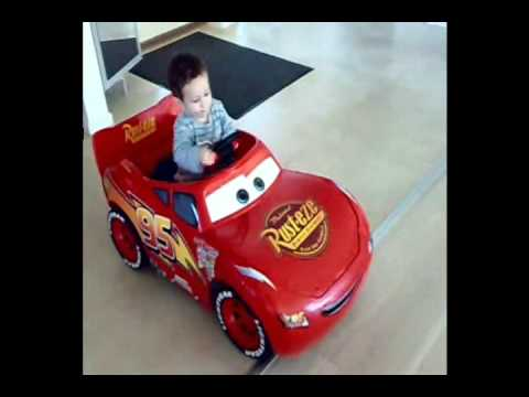 basse and his new car lightning macqueen