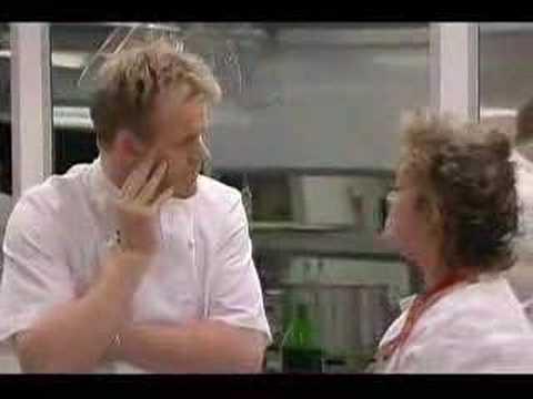 Amanda Barrie hitting Gordon Ramsay in Hells Kitchen UK!