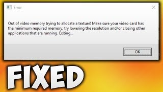How to Fix Fortnite Out of Video Memory Trying to Allocate a Texture Error | Epic Games Launcher